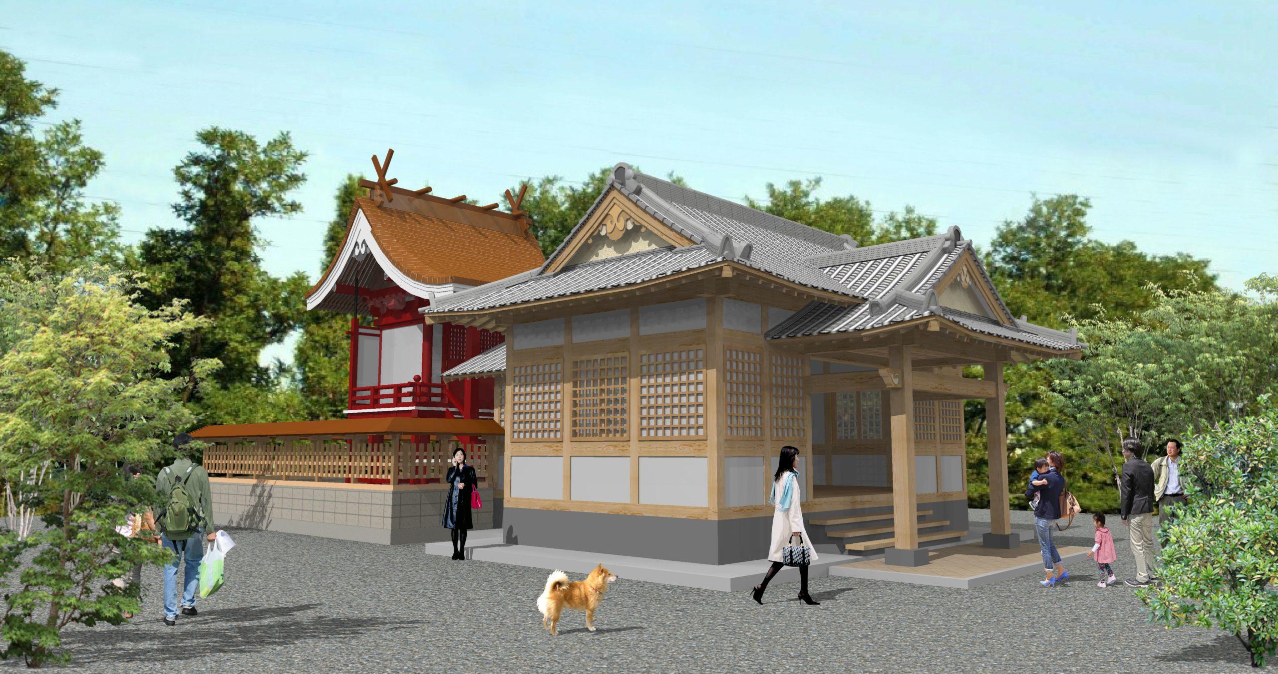 小山神社拝殿増築工事