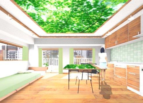 森の絵画 恵比寿のマンションリノベーション