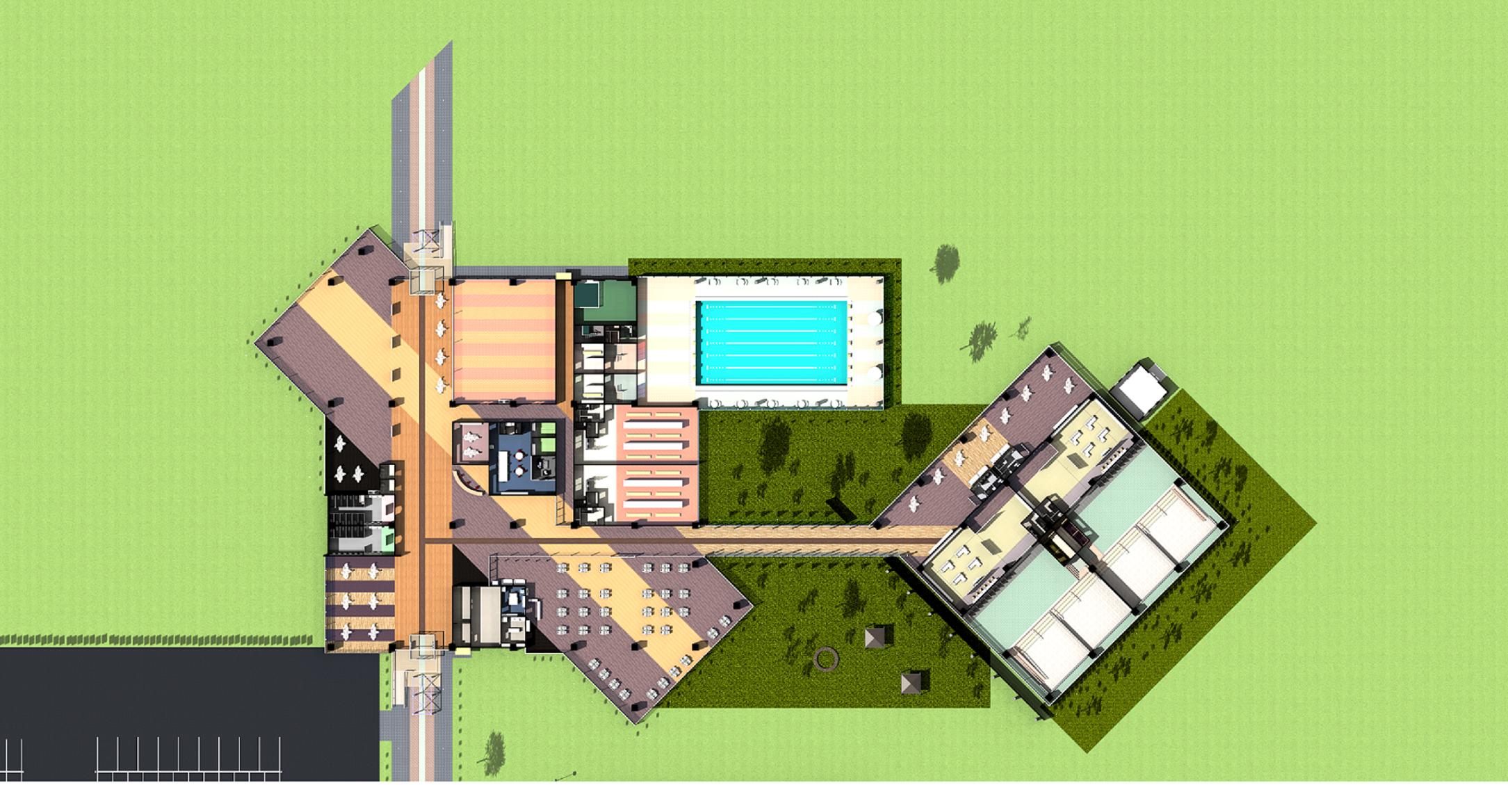 温泉リゾート地に立つ SeminarHouse – 2