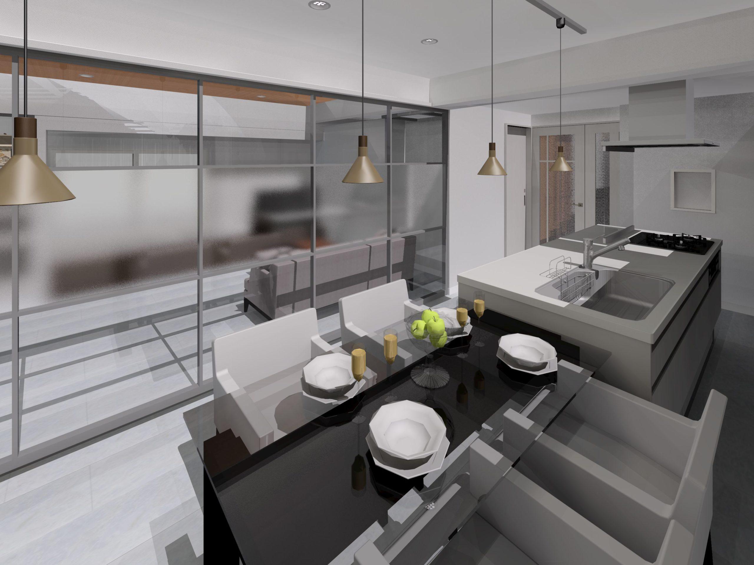 キッチン、リビング内装リフォーム