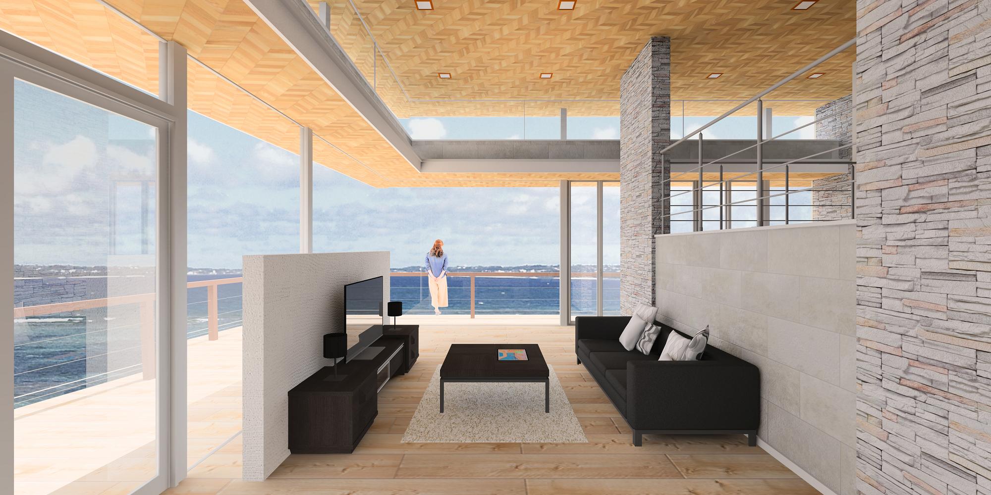 『 海が見える家 』