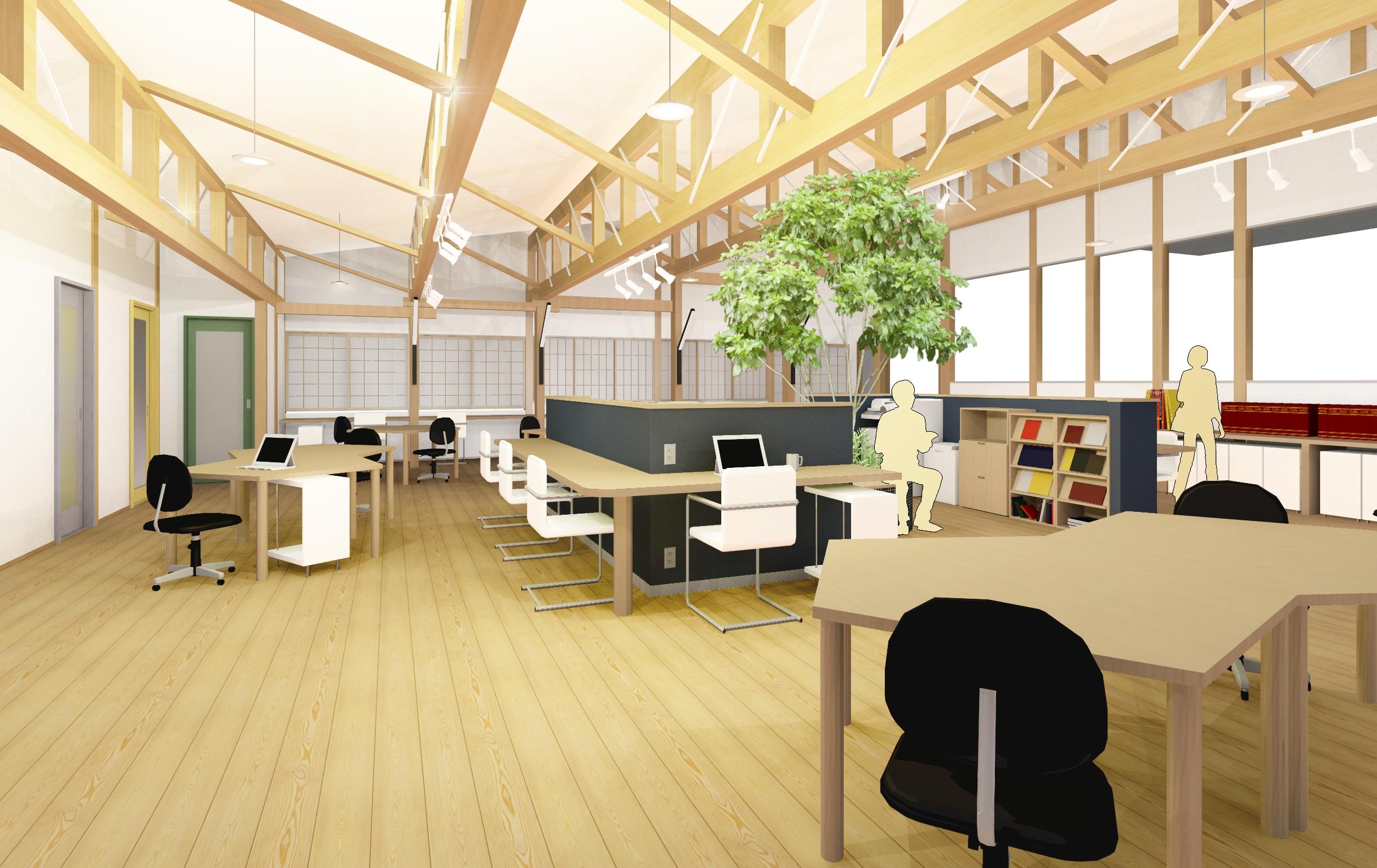 木の香るオフィス