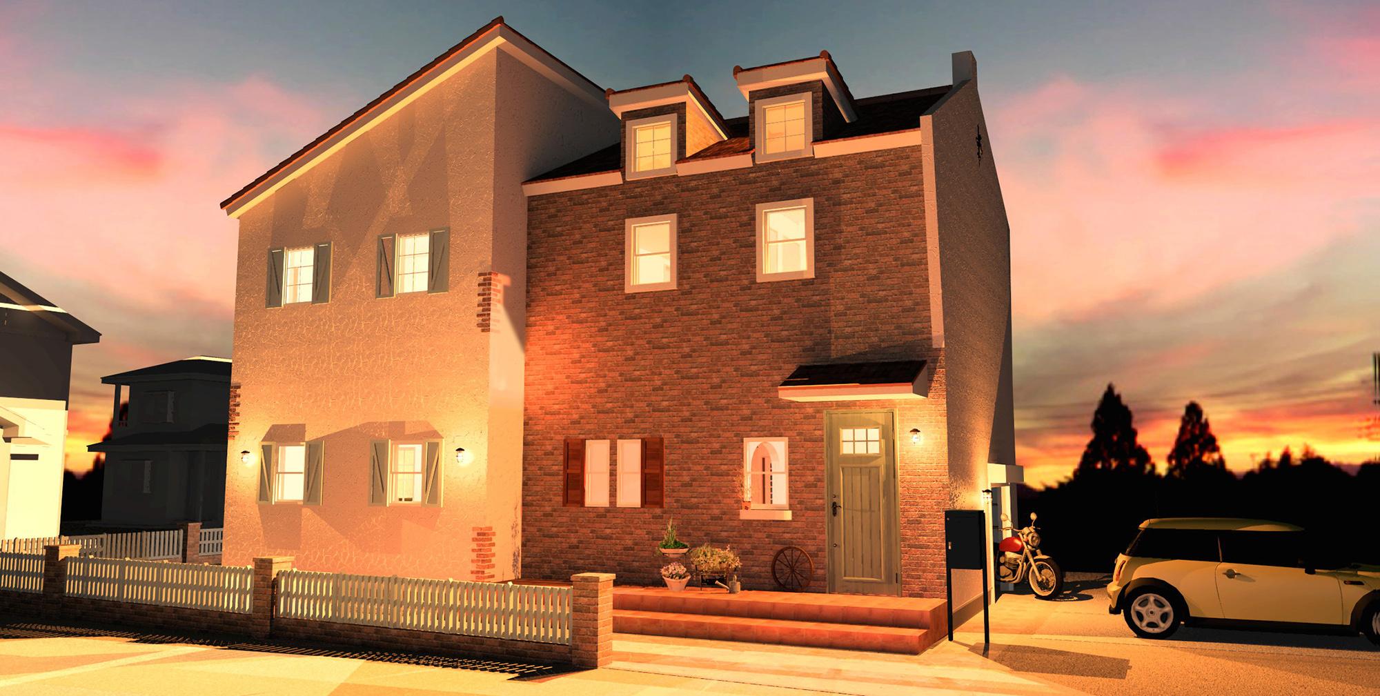 夜景が楽しみになるフレンチスタイルの家