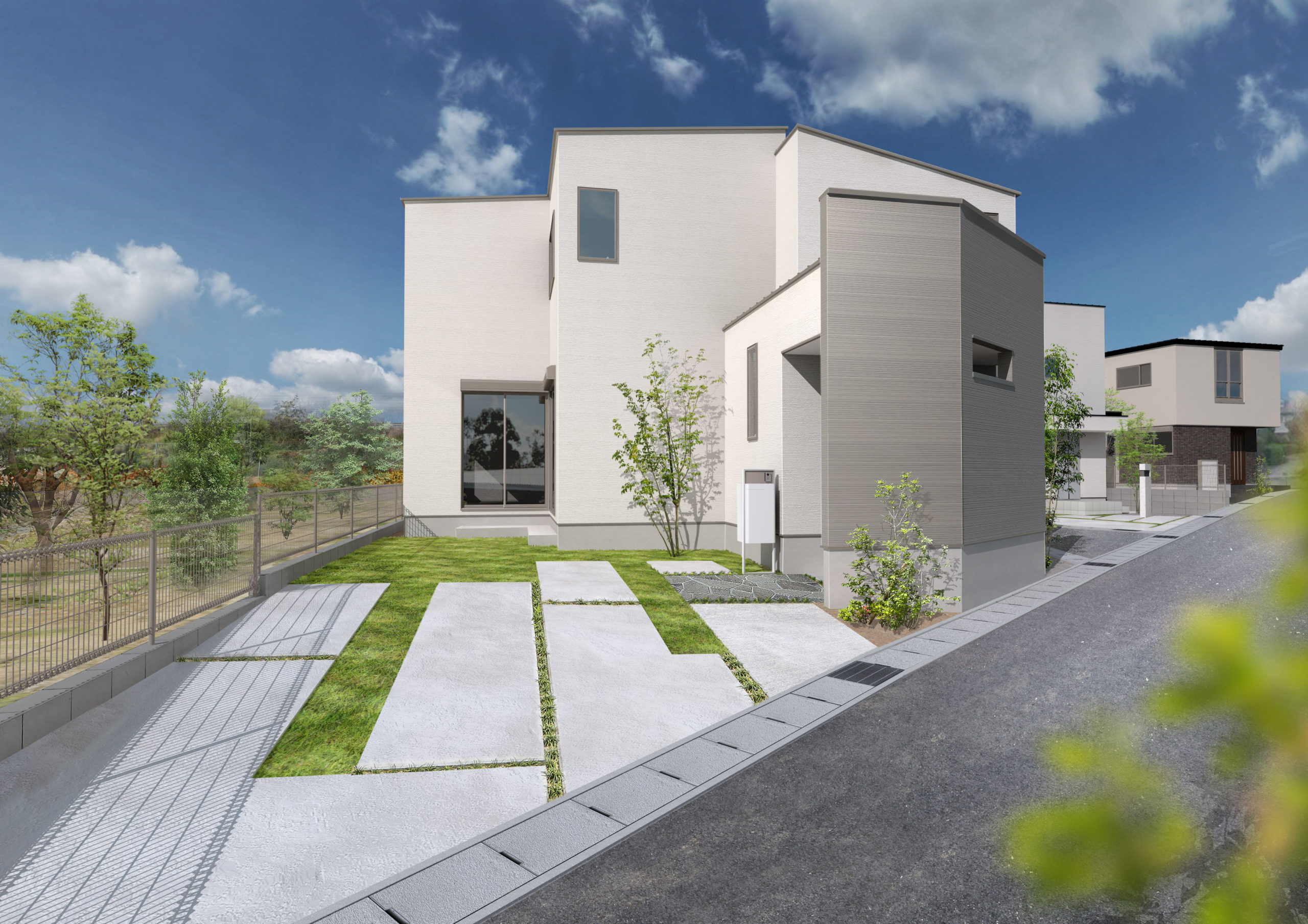 変形敷地の家