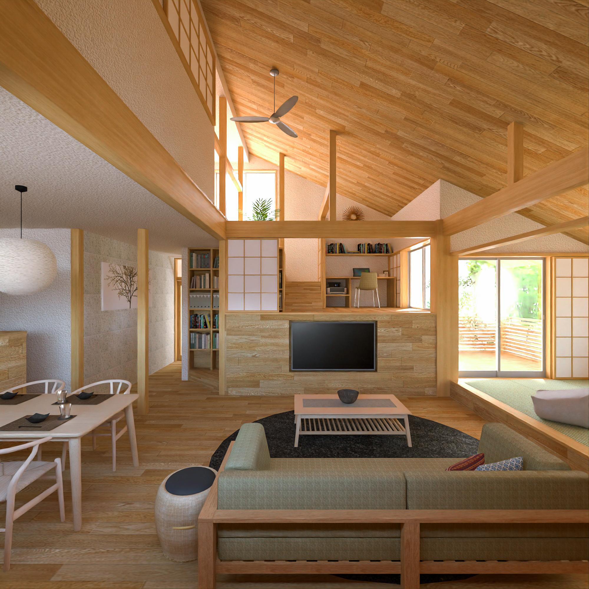 戸建住宅のリノベーション案-リビング